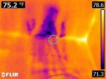 Forward Looking infrared camera (FLIR) camera to check equal air temperatures